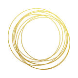 Golden circles abstraction of gold foil and glitter Royalty Free Stock Image