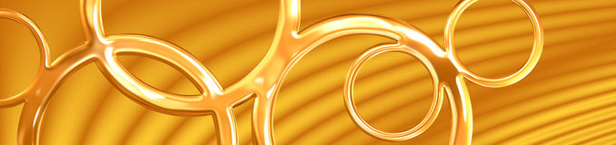 Golden Circles Banner Stock Photo