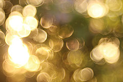 Golden circles blurry background Royalty Free Stock Image