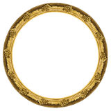 Golden circular frame isolated on white background Royalty Free Stock Image
