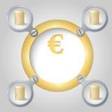 Golden circular frame Stock Images