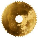 Golden circular saw blade Stock Images