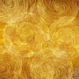 Golden Circular Swirl vintage background Stock Photography