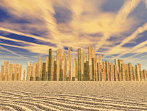Golden city Royalty Free Stock Images
