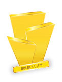 Golden city logo design Royalty Free Stock Photography