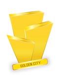 Golden city logo design royalty free stock photography