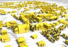 Golden City model Royalty Free Stock Images