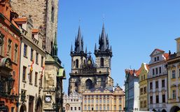 Golden city Prague Royalty Free Stock Image