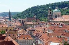 Golden city Prague Stock Photo