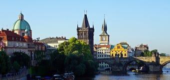 Golden City Prague sightseeing Royalty Free Stock Image