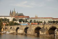Golden City Prague sightseeing Stock Photo