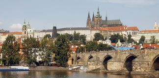Golden City Prague sightseeing Stock Photography