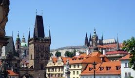 Golden City Prague sightseeing Royalty Free Stock Photos