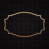 Golden classic frame, border on textured Royalty Free Stock Image