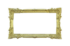 Golden classic frame on white Royalty Free Stock Photo