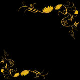 Golden classic motif. With black background, vector illustration Stock Image