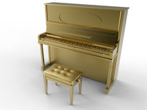 Golden classic piano Royalty Free Stock Image