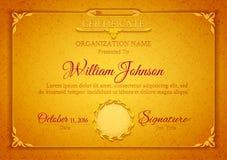 Golden classic premium plaque Stock Image