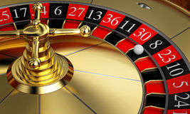 Golden classic roulette Stock Images