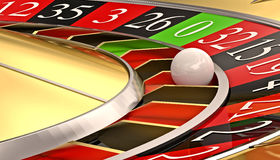 Golden classic roulette Stock Photo
