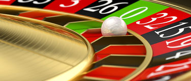 Golden classic roulette Royalty Free Stock Photography