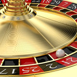 Golden classic roulette Stock Photography