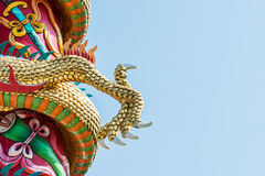 Golden claw. Of the dragon sculpture in Chinese temple royalty free stock photos