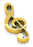 The golden clef Royalty Free Stock Photo