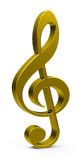 The golden clef Royalty Free Stock Image