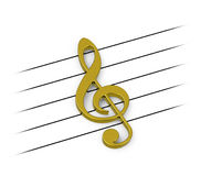 The golden clef Royalty Free Stock Photography
