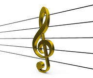 The golden clef Stock Photography