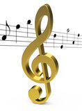 The golden clef Stock Photo