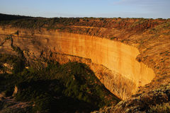 Golden cliffs Royalty Free Stock Photo