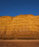 Golden cliffs at West Bay on the Jurassic Coast of Dorset Englan Royalty Free Stock Images
