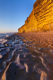 Golden cliffs at West Bay on the Jurassic Coast of Dorset Englan Stock Image