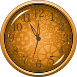 Golden Clock Royalty Free Stock Images