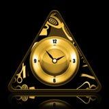 Golden Clock vector illustration