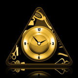 Golden Clock Stock Photos