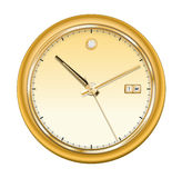Golden clock Stock Image