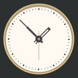 Golden clock. Stock Photos