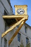 Golden Clock. At the Leeds city hall Royalty Free Stock Photography