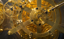 Golden Clock. Mechanism close-up Royalty Free Stock Photo