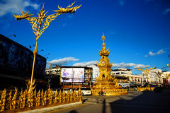 Golden clock tower, Chiang Rai Stock Photography