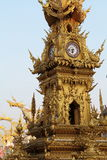 Golden clock tower in thailand Stock Photography