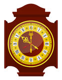 Golden Clock Royalty Free Stock Photography