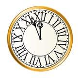 Golden clock Stock Photo
