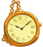 Golden clocks Stock Images
