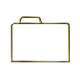 Golden closed folder silhouette Royalty Free Stock Photo