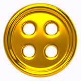 Golden cloth button for garments Stock Photo