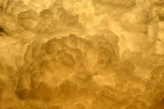 Golden Cloud Background Royalty Free Stock Image
